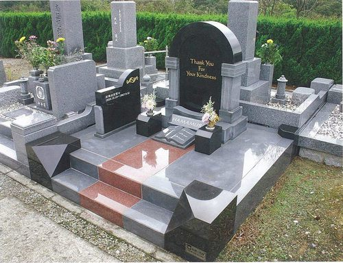 「デザイン墓石写真集Ⅱ」に紹介されたオリジナルデザインのお墓 [神戸市立西神墓園]