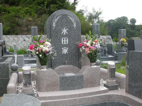 暖色系ツートーンカラーデザイン墓石2.JPGのサムネール画像
