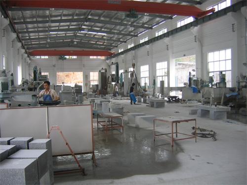 石材加工工場内部