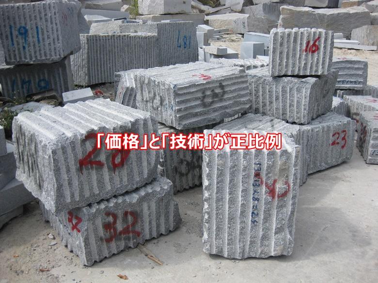 中国の石材加工工場は「価格」と「技術」が正比例