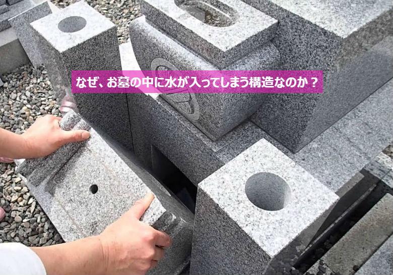 なぜ、お墓の中に水が入ってしまう構造なのか?