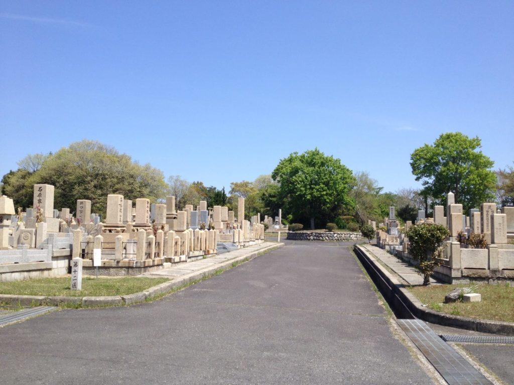鵯越墓園再貸付墓地参照写真