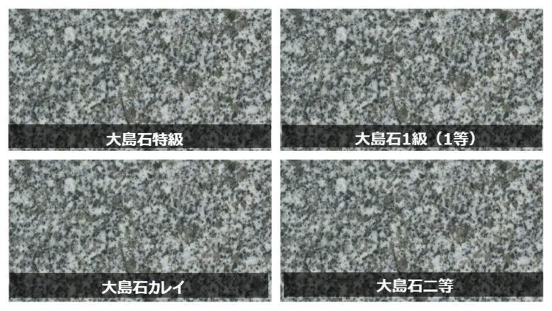 大島石のランク・等級・価格