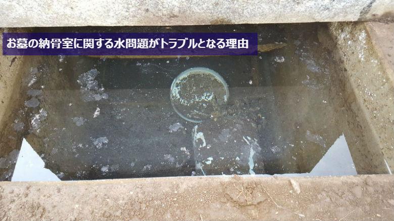 お墓の納骨室に関する水問題がトラブルとなる理由