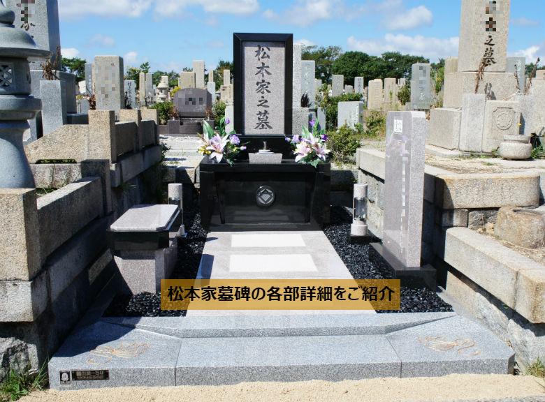 松本家墓碑の各部詳細をご紹介