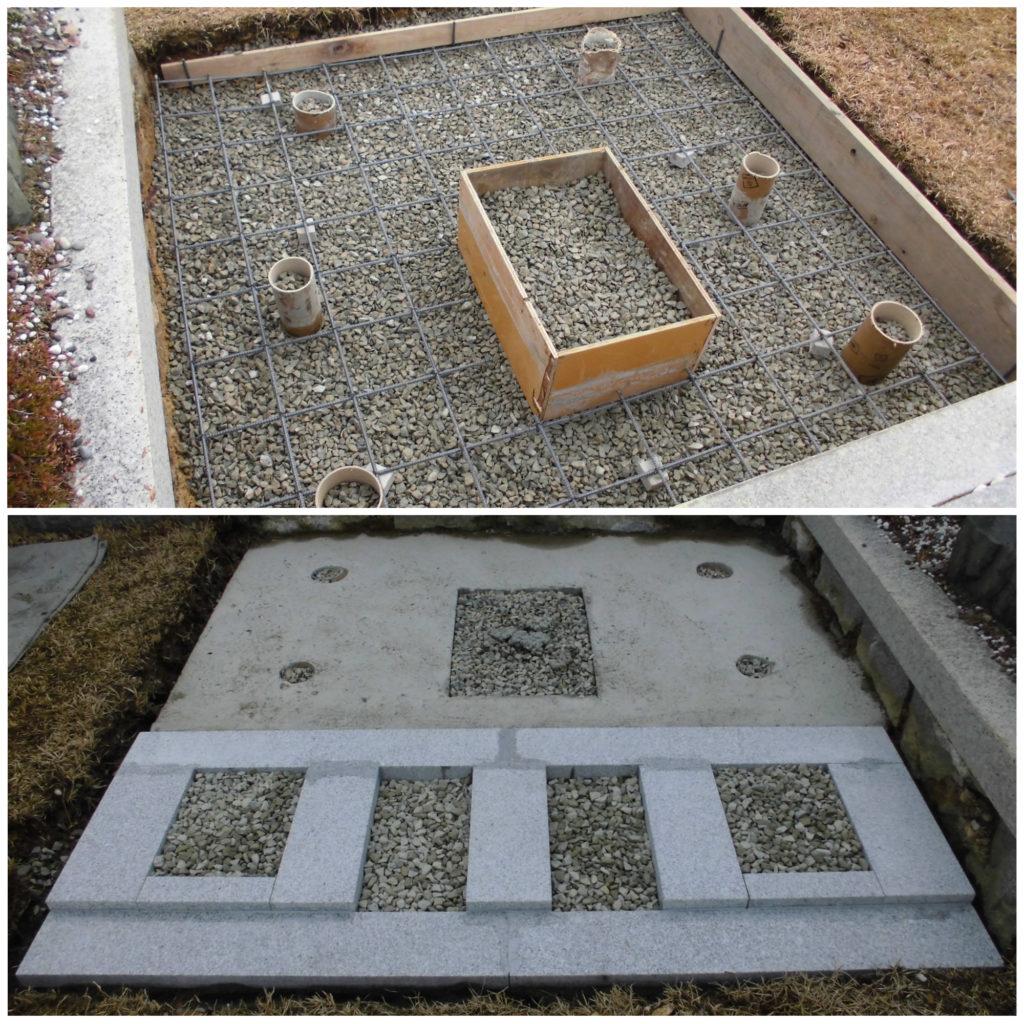 いいお墓づくりに頑強な基礎工事は不可欠