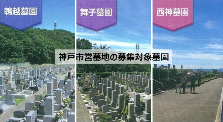 神戸市営墓地の募集対象墓園