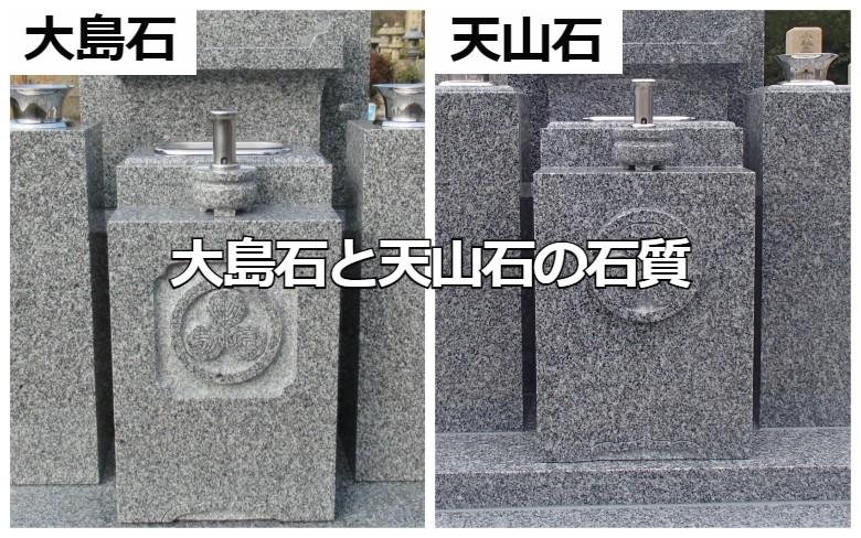 大島石と天山石の石質