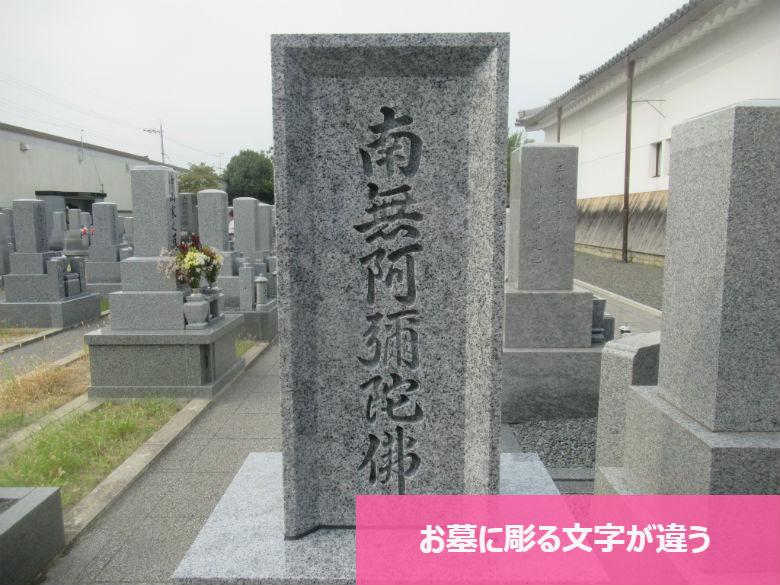 お墓に彫る文字が違う