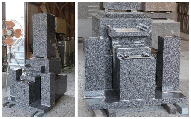 天山石墓石の製品検品