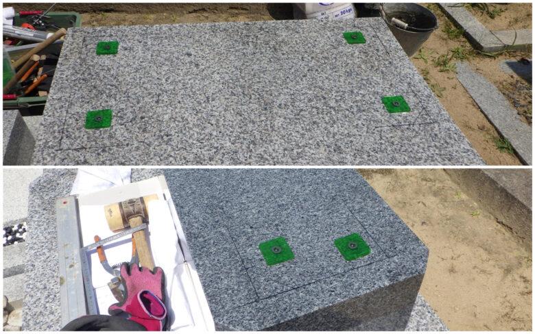 震度7に対応する墓石耐震施工